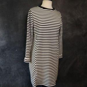 TOPSHOP | Black Striped Maternity Dress Size 8